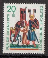 Germania 1970 Sc. B456 Minnesingers Menestrello Ritratto Di Wolfram Von Eschenbach MNH Sacro Graal - Scrittori