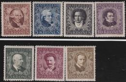 Osterreich     .   Yvert   .     290/296      .    *    .  Ungebraucht Mit Falz    .   /  .     Mint-hinged - 1918-1945 1. Republik