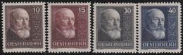 Osterreich     .   Yvert   .     374/377     .    *    .  Ungebraucht Mit Falz    .   /  .     Mint-hinged - 1918-1945 1. Republik