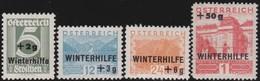 Osterreich     .   Yvert   .     437/440     .    *    .  Ungebraucht Mit Falz    .   /  .     Mint-hinged - 1918-1945 1. Republik
