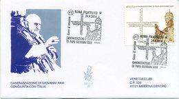 ITALIA - FDC  VENETIA  2014 - CANONIZZAZIONE GIOVANNI XXIII - VIAGGIATA - CONGIUNTA VATICANO - 6. 1946-.. Repubblica