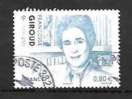 Françoise Giroud; 2016; N° 5070. Cachet Rond. - France
