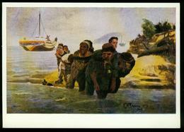 AKx Kunst   Gemälde Von Ilja Jefimowitsch Repin, Wolgatreidler, Staatliches Russisches Museum Leningrad - Peintures & Tableaux