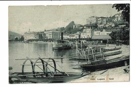CPA - Carte Postale -Suisse - Tessin - Lugano Quai Du Lac 1909-  S4991 - TI Tessin