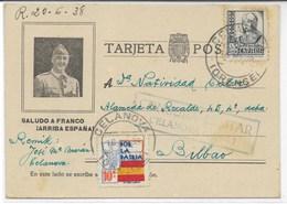 España. Postal Con Efigie De Franco Y Dirigida Desde El Campo De Concentraciìon De Celanova - 1931-Hoy: 2ª República - ... Juan Carlos I