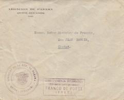 LETTRE COVER. QUITO ECUADOR. LEGACION DE PANAMA. CORRESPONDENCIA DIPLOMATICA. FRANCO. MINISTRO DE FRANCIA CIUDAD - Stamps