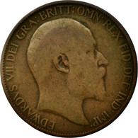 Monnaie, Grande-Bretagne, Edward VII, 1/2 Penny, 1907, B+, Bronze, KM:793.2 - 1902-1971 : Monnaies Post-Victoriennes