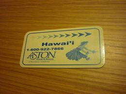Hawaii Aston Hotel Room Key Card - Hotel Keycards