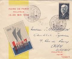 LETTRE COVER. FRANCE. 1950 FOIRE DE PARIS TO ORAN - Stamps