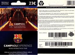 TARJETA REGALO DE ESPAÑA, GIFT CARD. FUTBOL BARCELONA, CAMP NOU, EXPERIENCE. 072. - Cartes Cadeaux