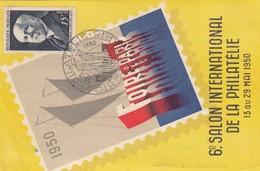 POSCARD. FRANCE. 1950 FOIRE DE PARIS TO ORAN - Stamps