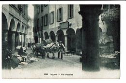 CPA - Carte Postale -Suisse - Tessin - Lugano Via Pessina -1909-  S4992 - TI Tessin