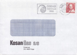 Denmark KOSAN GAS Slogan Flamme 'Ugly Duckling Swan' ODENSE 1988 Cover Brief Bird Vogel Oiseau Cachet In Cds. !! - Briefe U. Dokumente