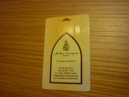 Dubai U.A.E. Arabian Courtyard Hotel Room Key Card (Tissot Swiss Watch) - Cartes D'hotel