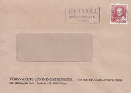 Denmark FORSVARETS BYGNINGSTJENESTE Viborg Slogan Flamme 'Trapholt, Art Museum' KOLDING 1989 Cover Brief - Briefe U. Dokumente