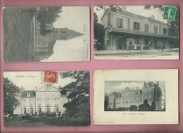 4 CPA - ALLEREY - Eglise - La Gare - Le Chateau - Le Chateau - France