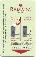 ISRAELE  KEY HOTEL  Ramada Jerusalem - Cartes D'hotel