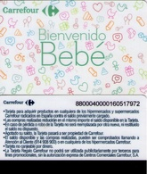 TARJETA REGALO DE ESPAÑA, GIFT CARD. CARREFOUR, BIENVENIDO BEBÉ. 073. - Cartes Cadeaux