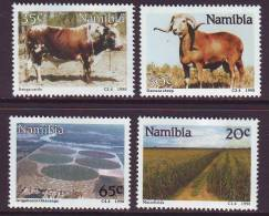 D101225 Namibia 1990 South West Africa CATTLE SHEEP Farming Maize MNH Set - SWA Namibia Namibie - Namibie (1990- ...)