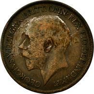 Monnaie, Grande-Bretagne, George V, 1/2 Penny, 1917, TB, Bronze, KM:809 - 1902-1971 : Monnaies Post-Victoriennes