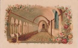 Calendrier : Petit Format Publicitaire :chocolaterie D'aiguebelle : Drome -1896 ( Format 6,3cm X 9,7cm ) 2 Volets - Calendars
