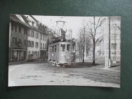 PHOTO TRAIN SUISSE TRAMWAY DE BALE  MOTRICE  A  HUNINGUE  5/11/1957 PHOTO M.GEIGER - Trains