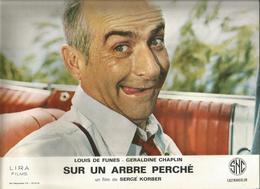 Affiche , 30 X 24.5 , Cinéma,Louis De Funes , SUR UN ARBRE PERCHE, 2 SCANS , Frais Fr 2.45 E - Affiches