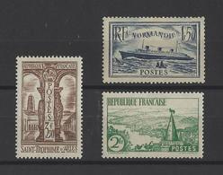 FRANCE  YT  N° 299-301-302  Neuf **  1935 - France