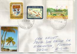 Belle Lettre D'Honiara GPO, Adressée Aux Etats-Unis (Florida) - Salomon (Iles 1978-...)