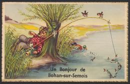 Carte Postale - Un Bonjour De Bohan-sur-semois / Pêche, Poissons, Grenouille,... - Sonstige