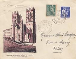 LETTRE COVER. FRANCE. 1939. EXPOSITION PHILATELIQUE MONTPELLIER - Stamps