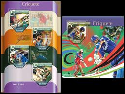 Sao Tome & Principe 2015, Cricket, Klb + S/s MNH - Cricket