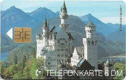 Germany - Deutscher Bundesländer Bayern - Neuschwanstein Castle - O 0802 - 04.93, 6DM, 7.000ex, Used - O-Series : Series Clientes Excluidos Servicio De Colección