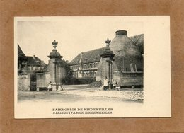 CPA - NIEDERVILLER (57) - Aspect De La Fabrique-Usine De Faiencerie Au Début Du Siècle - Autres Communes