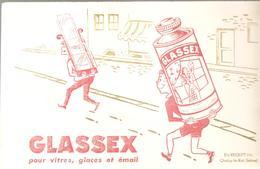 Buvard GLASSEX Pour Vitres, Glaces Et émail - Produits Ménagers