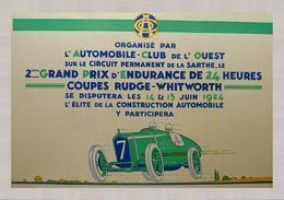 Car Automobile Grand Prix Postcard Mans 24 Hrs 1924 - Reproduction - Werbepostkarten