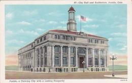 Colorado Pueblo City Hall And Auditorium Curteich - Pueblo