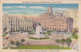 Peru Lima San Martin Square and Monument
