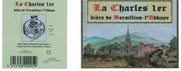 Étiquette, Contre étiquette De Bière « La Charles 1er » Neuves - Beer
