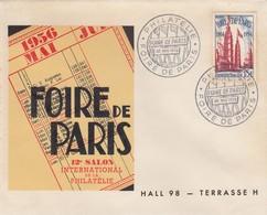 LETTRE COVER. FRANCE. MAI 1956. FOIRE DE PARIS - Stamps