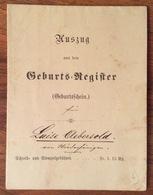 SVIZZERA SUISSE KANTON BERN CANTONE DI BERNA  1882  DOCUMENTO CO BOLLO A SECCO  DI 15 RAPPEN - Documenti Storici