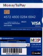 TARJETA REGALO DE ESPAÑA, GIFT CARD. TARJETA PREPAGO, MONEY TO PAY, VISA. 076. - Cartes Cadeaux