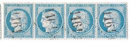TIMBRES N° 60/1; BANDE DE 4 23/24/25/26 A2; ASSEZ RARE À TROUVER ISOLÉS   TTB - 1871-1875 Ceres