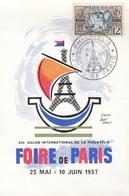 POSTCARD. FRANCE. MAI 1956. FOIRE DE PARIS - Stamps