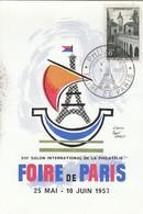 CARD. FRANCE. MAI 1956. FOIRE DE PARIS - Stamps