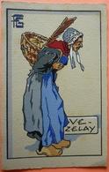 CARTE VEZELAY - 89 - GEO FOURRIER - VIEILLE VENDANGEUSE DES COTEAUX DE VEZELAY - SCANS RECTO VERSO - 6 - Fourrier, G.