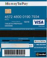 TARJETA REGALO DE ESPAÑA, GIFT CARD. TARJETA PREPAGO, MONEY TO PAY, VISA. 077. - Gift Cards