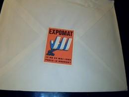 Erinophilie EXPOMAT LEBOURGET 1966 Publicité Compresseurs Matec A St  Denis Cahet Postal 1966 Flamme Preservez Vos Yeux. - Erinnophilie