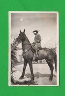 Alpini Sottufficiale A Cavallo Horse Uniform Foto Con Dedica Primi Anni 20 - War, Military