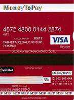 TARJETA REGALO DE ESPAÑA, GIFT CARD. 90 EUROS, MONEY TO PAY, VISA. 079. - Cartes Cadeaux